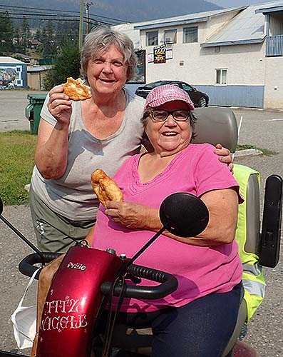Our local bannock queen brought bannock for us to copy.