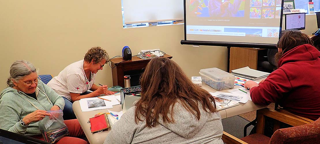 The Okanagan Regional Library sponsored several classes on research technology.